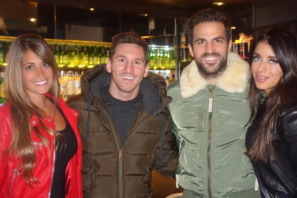 Messi avec Fabregas - Fc-Barcelone.com