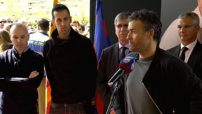 Luis Enrique et les joueurs ont rendu hommage à Cruyff - Fc-Barcelone.com