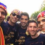 Barcelone fête ses joueurs - Fc-Barcelone.com
