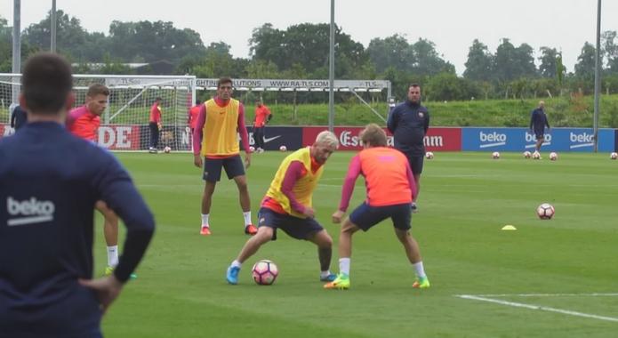 Messi a repris l'entraînement - Fc-Barcelone.com