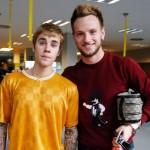 Rakitic avec Justin Bieber - Fc-Barcelone.com