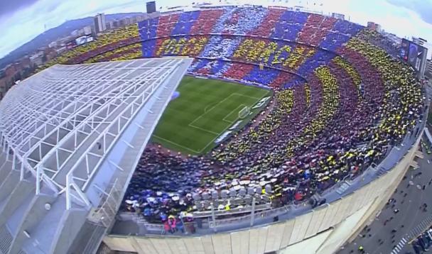 La mosaïque lors du Clasico en vidéo - Fc-Barcelone.com