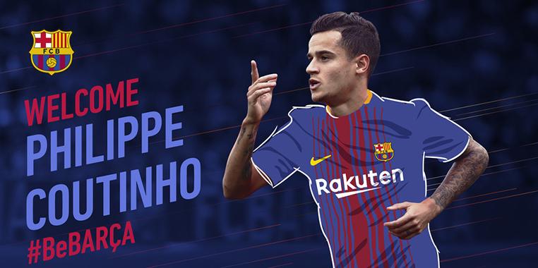 Officiel : Coutinho nouveau joueur du Barça - Fc-Barcelone.com