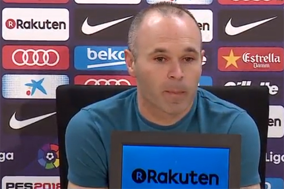 Andres Iniesta annonce son départ du Barça - Fc-Barcelone.com