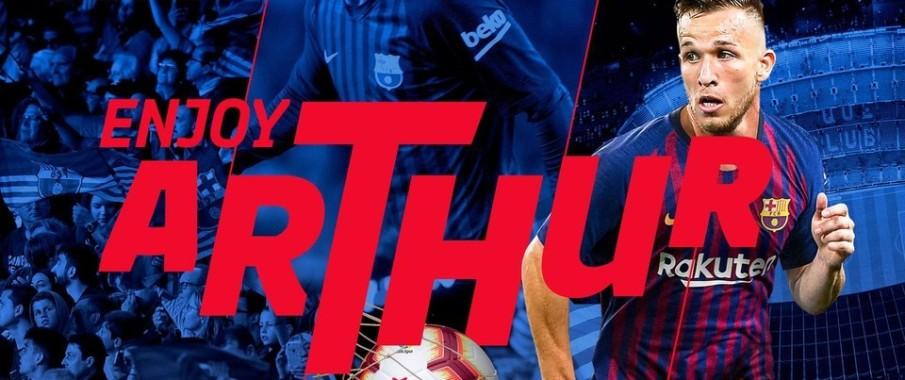 Arthur, officiellement Blaugrana - Fc-Barcelone.com