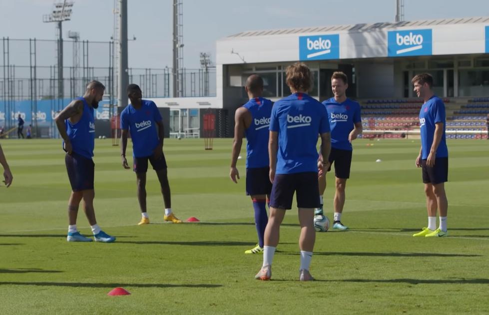 Le Barça, prêt pour son premier match - Fc-Barcelone.com