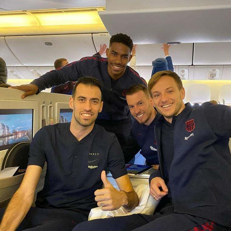 Les joueurs prêts pour la SuperCoupe - Fc-Barcelone.com